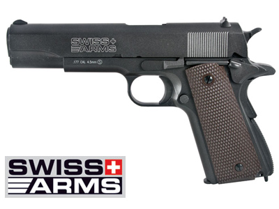 pistola swiss arms modelo colt 1911 blowback co2