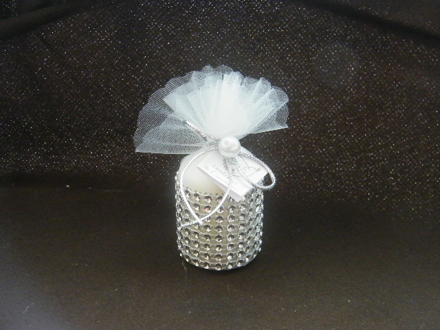 C13037  Saco com vela decorado com brilhantes