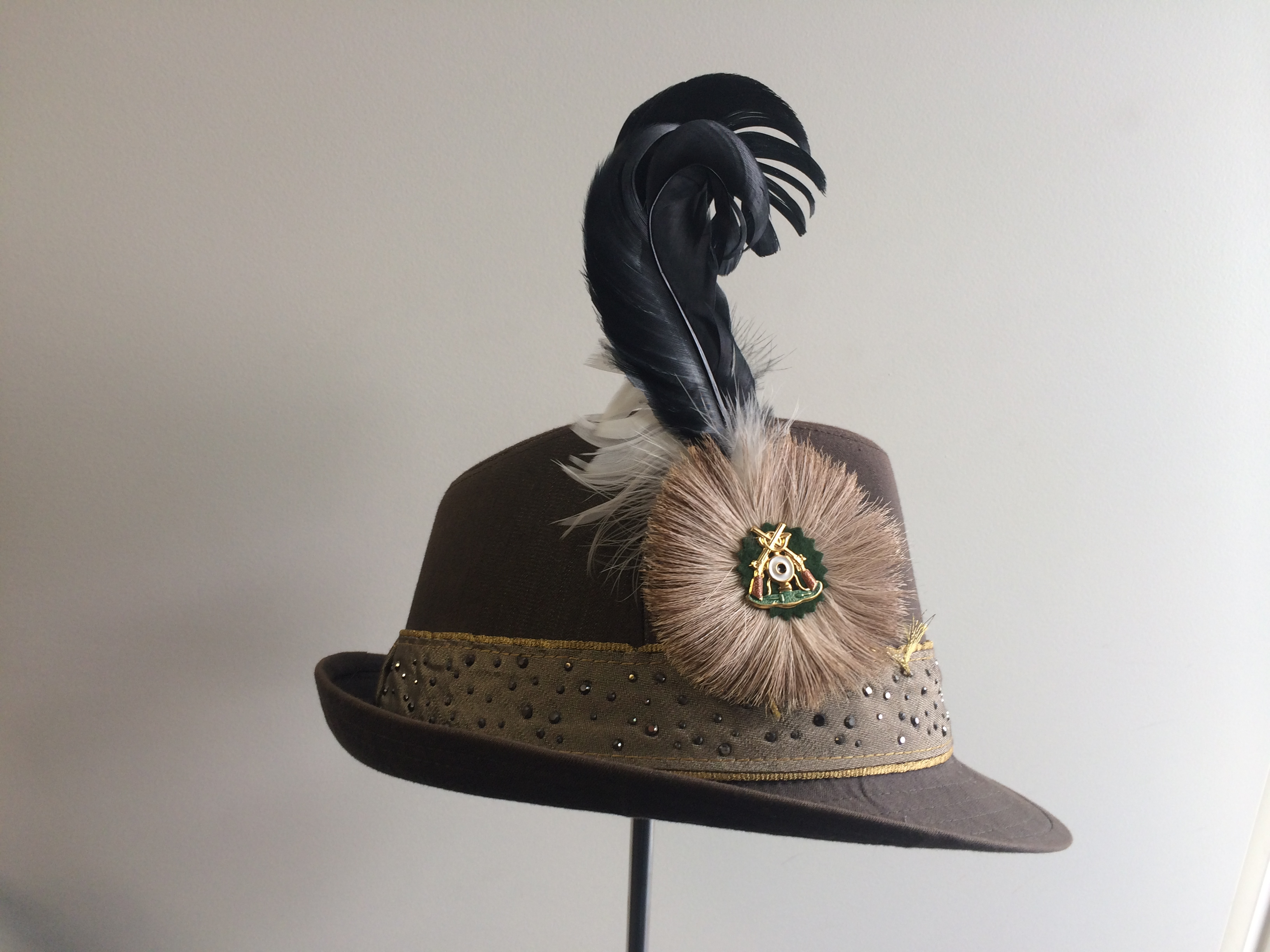janosch moldau boss hat with bavarian feather