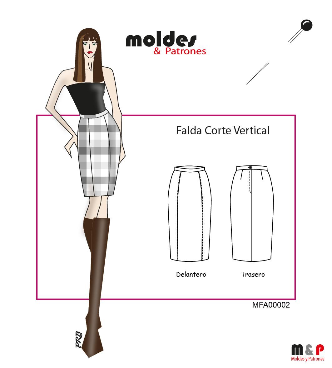 3 TALLAS S M L  - Falda con corte vertical