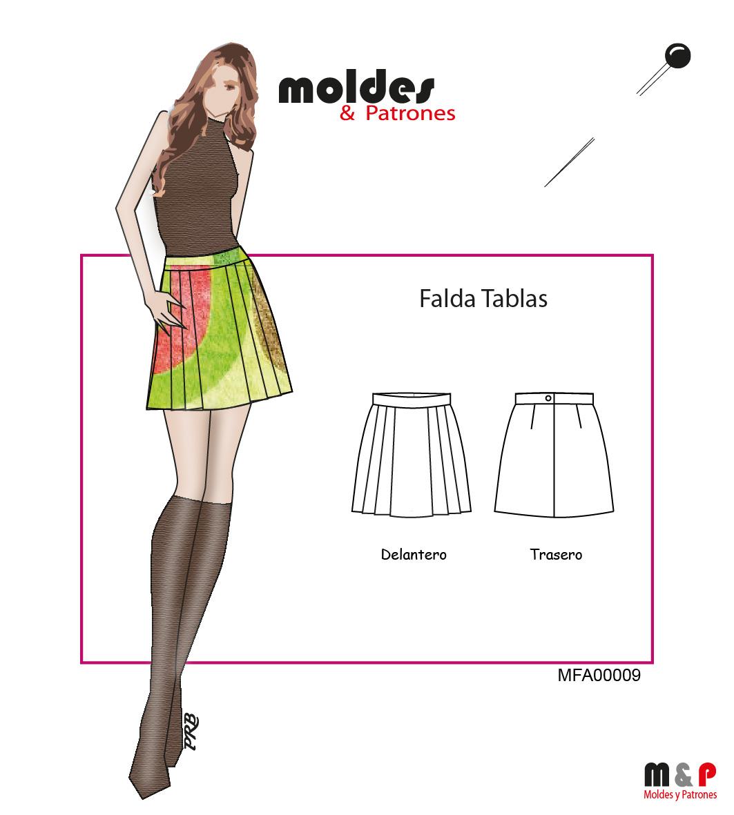 3 TALLAS S M L - Falda con tablas
