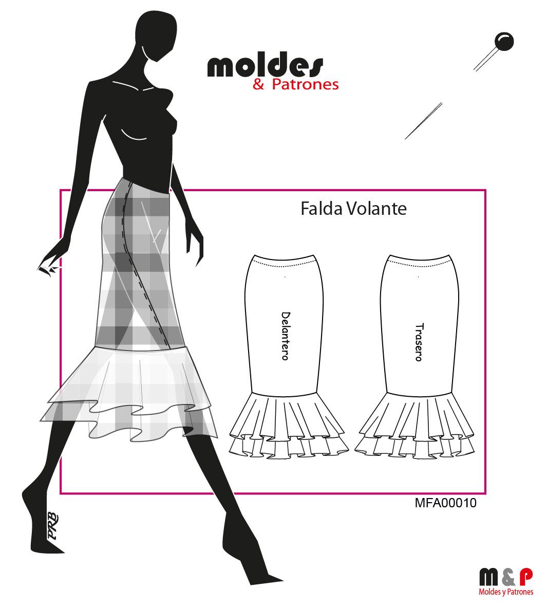 3 TALLAS S M L - Falda Volante