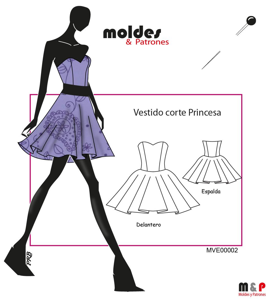 3 TALLAS S M  L - Vestido Princesa