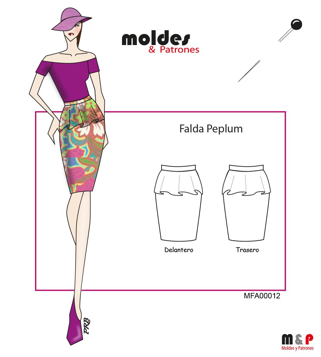 3 TALLAS S M L - Falda Peplum