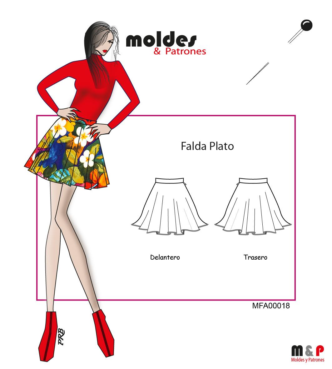 3 TALLAS S M L - Falda Plato