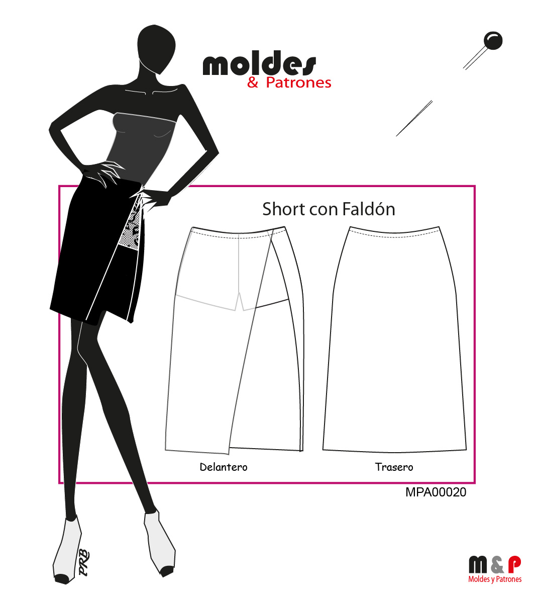 3 TALLAS S M L - Short con Faldón