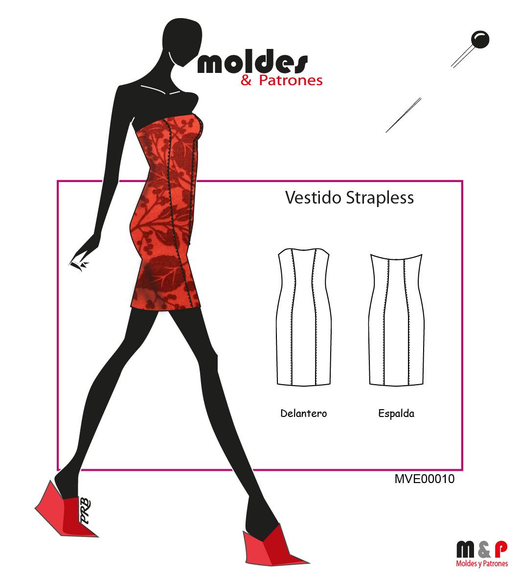 3 TALLAS S M L - Vestido Strapless