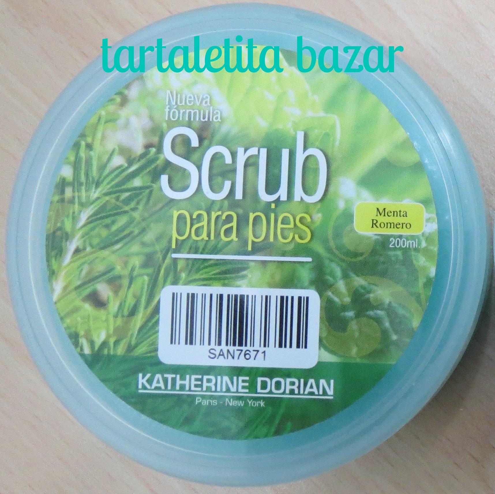 Exfoliante para pies Menta Romero Scrub Katherine Dorian 200 ml
