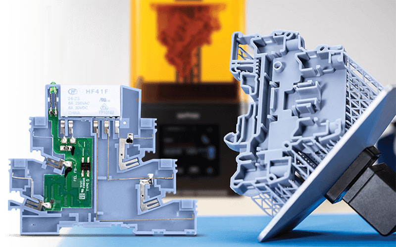 Impresión 3D en resina en la electrónica profesional