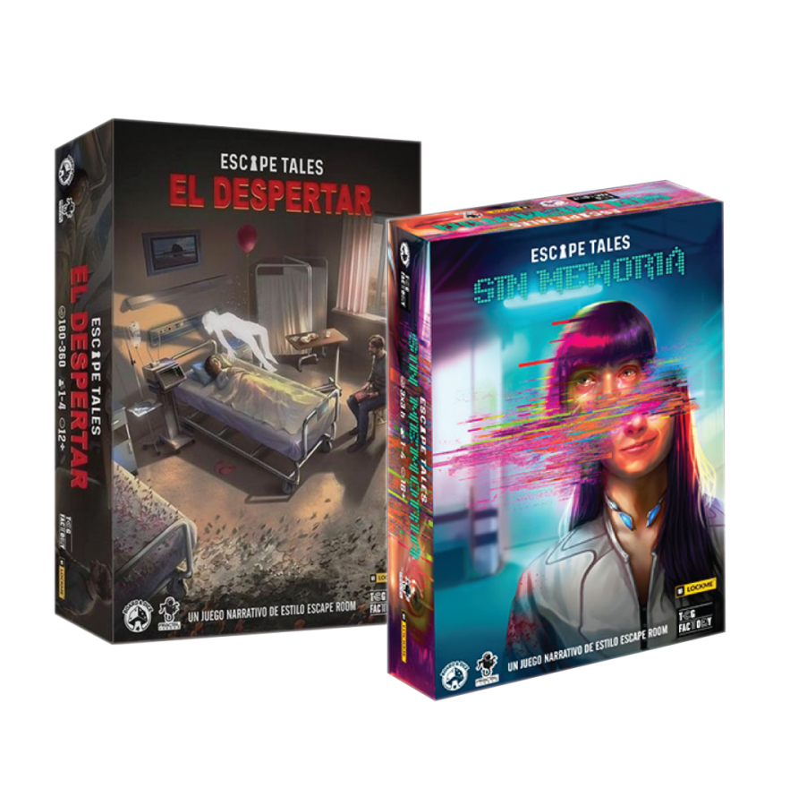 PACK PROMO ESCAPE ROOM - Escape Tales: El Despertar y Sin Memoria