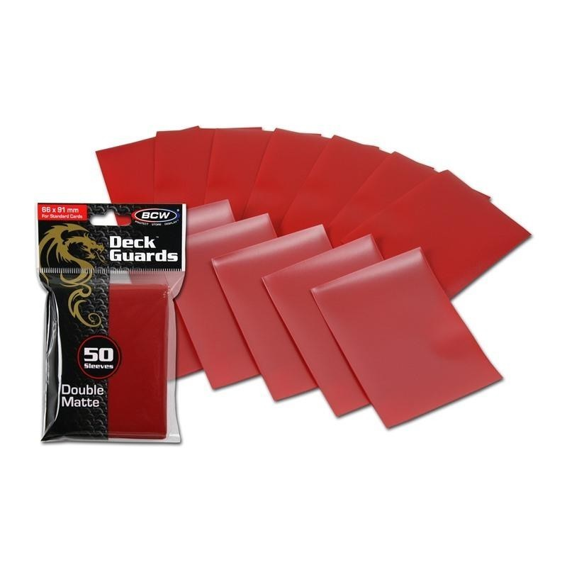 Protector BCW STANDARD DOUBLE MATTE Color Rojo