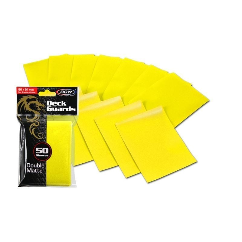 Protector BCW STANDARD DOUBLE MATTE Color Amarillo