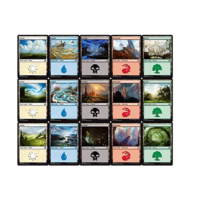 Pack de 80 tierra básicas de Kaladesh - Magic The Gathering