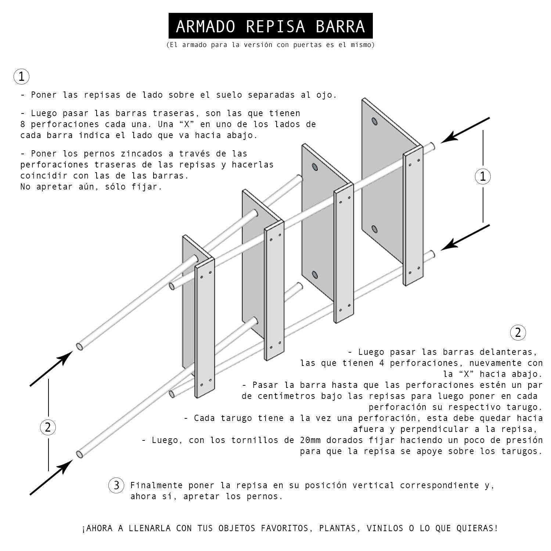 Repisa Barra Simple