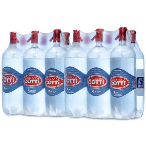 Botella 1,75 Lts - Pack 12 Agua Soda Desechable.