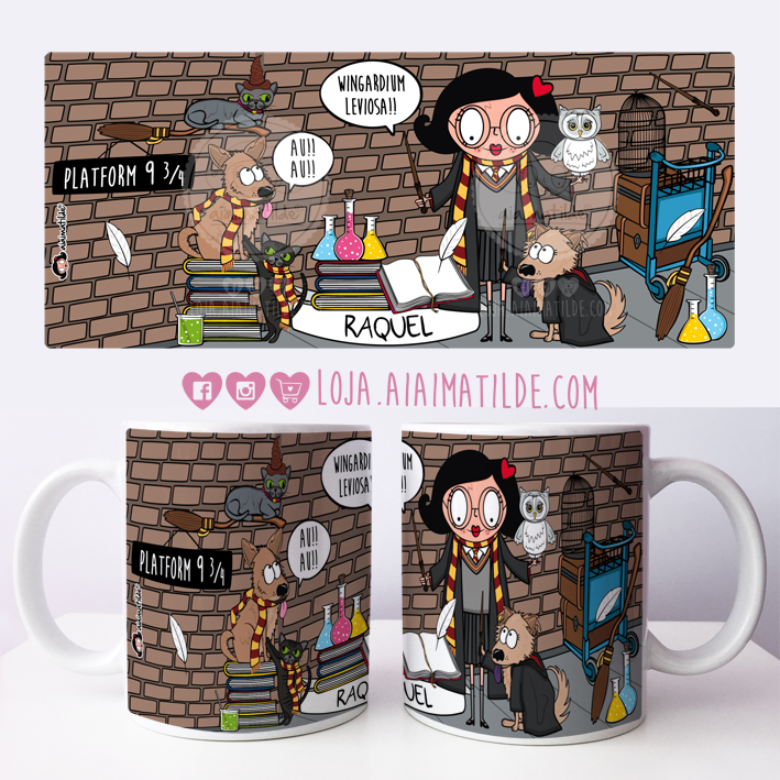 caneca aiai harry potter
