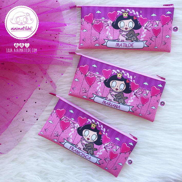 Princess Pencil Case with name