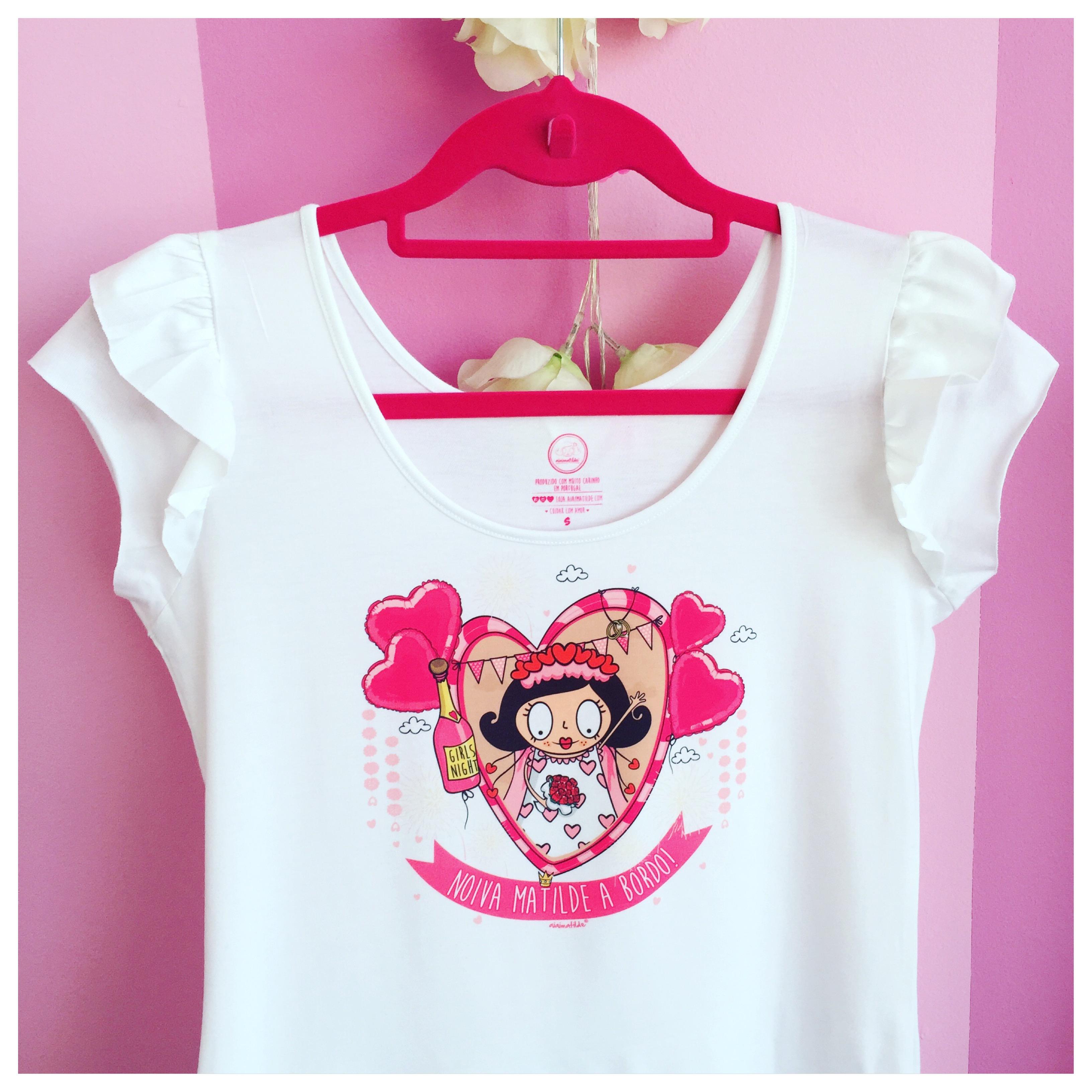 t-shirt noiva