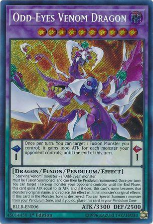 Odd-Eyes Venom Dragon - BLLR-EN006 - Secret Rare