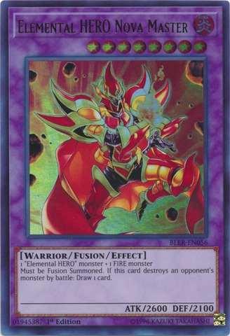 Elemental HERO Nova Master - BLLR-EN056 - Ultra Rare