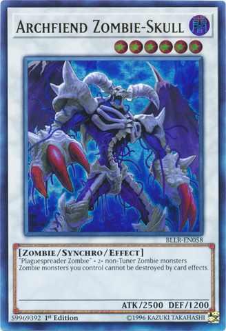 Archfiend Zombie-Skull - BLLR-EN058 - Ultra Rare