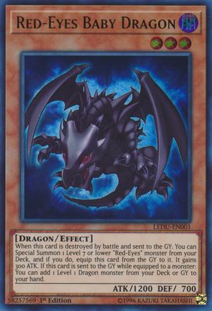 Red-Eyes Baby Dragon - LEDU-EN001 - Ultra Rare -