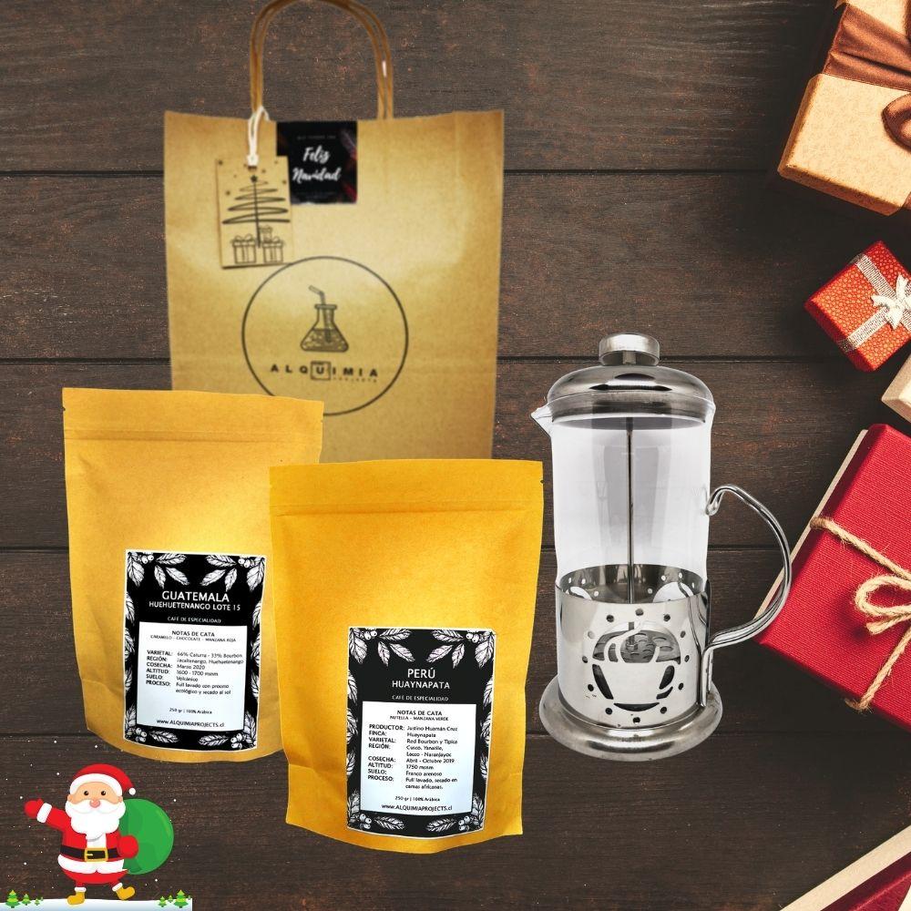 2 variedades de café + Prensa Francesa 350 ml