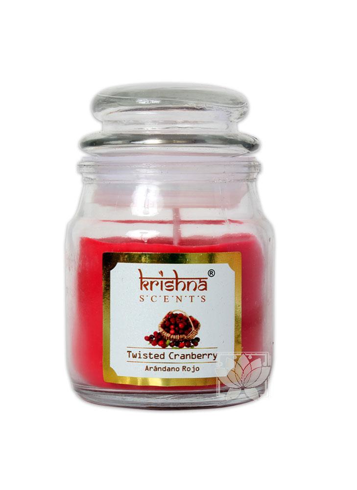 Vela Aromatica Frasco Krishna Arandano 75grs
