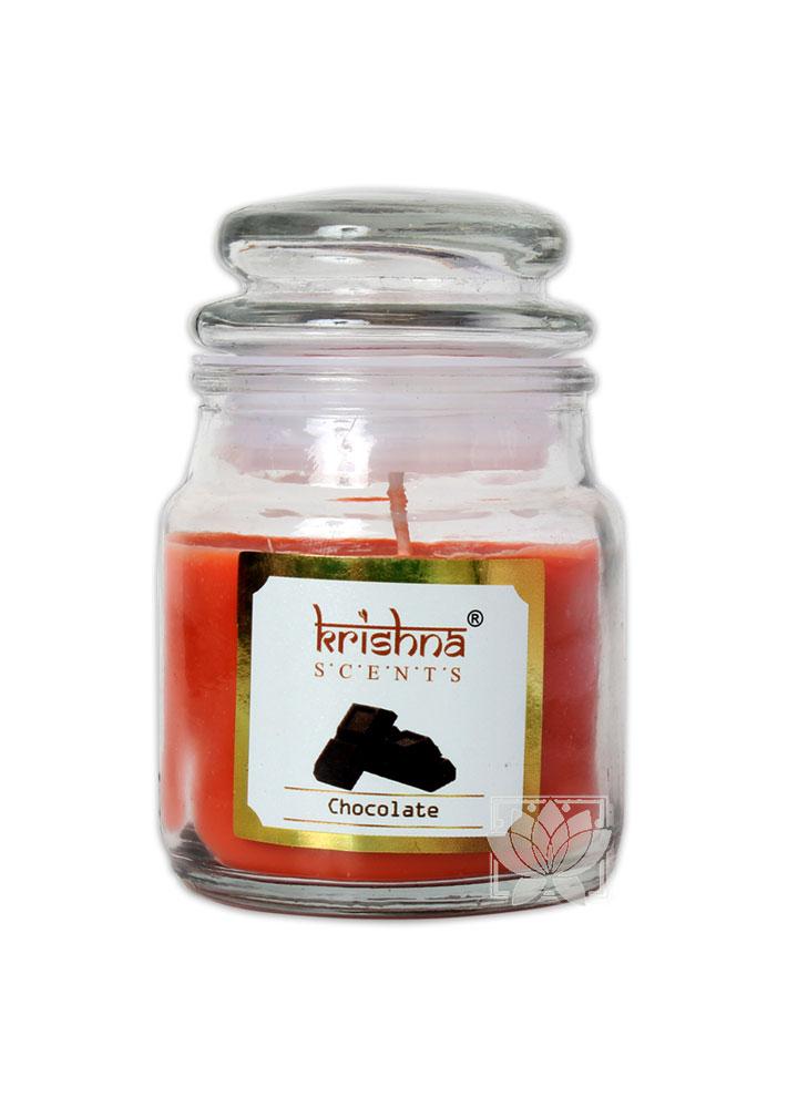Vela Aromatica Frasco Krishna Chocolate 75grs