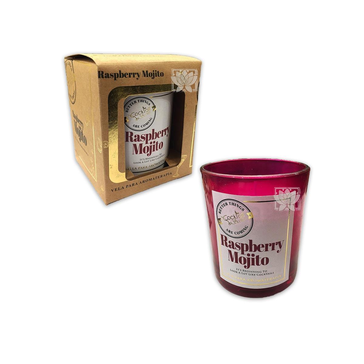Vela Aromaticas Krishna Vidrio Raspberry & Mojito CK-57