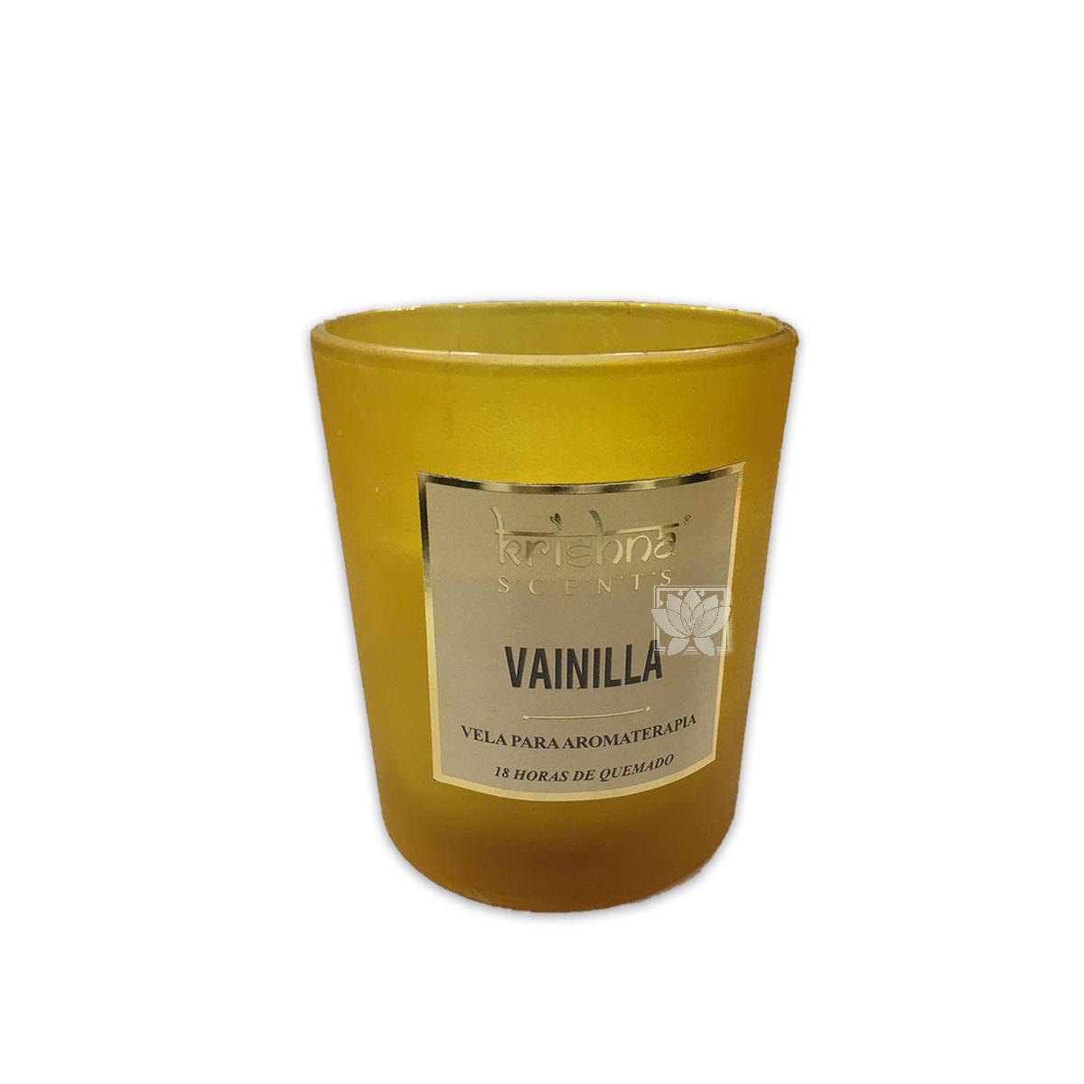 Vela Aromaticas Krishna Vidrio Escarchado Vainilla KS-201