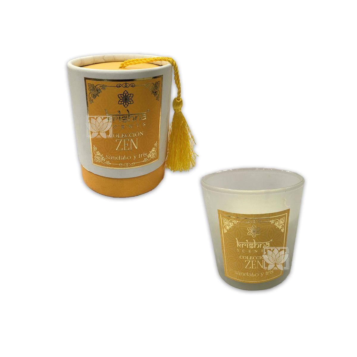 Vela Aromaticas Krishna Sandalo y Iris  Zen-109