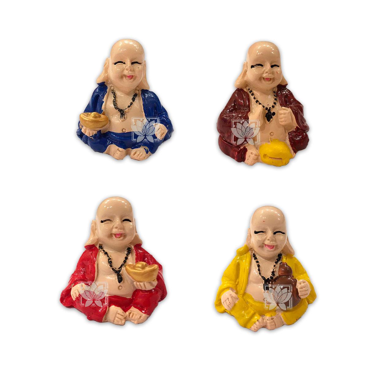 Set Figura Buda Sonriente  Poliresina  1,5