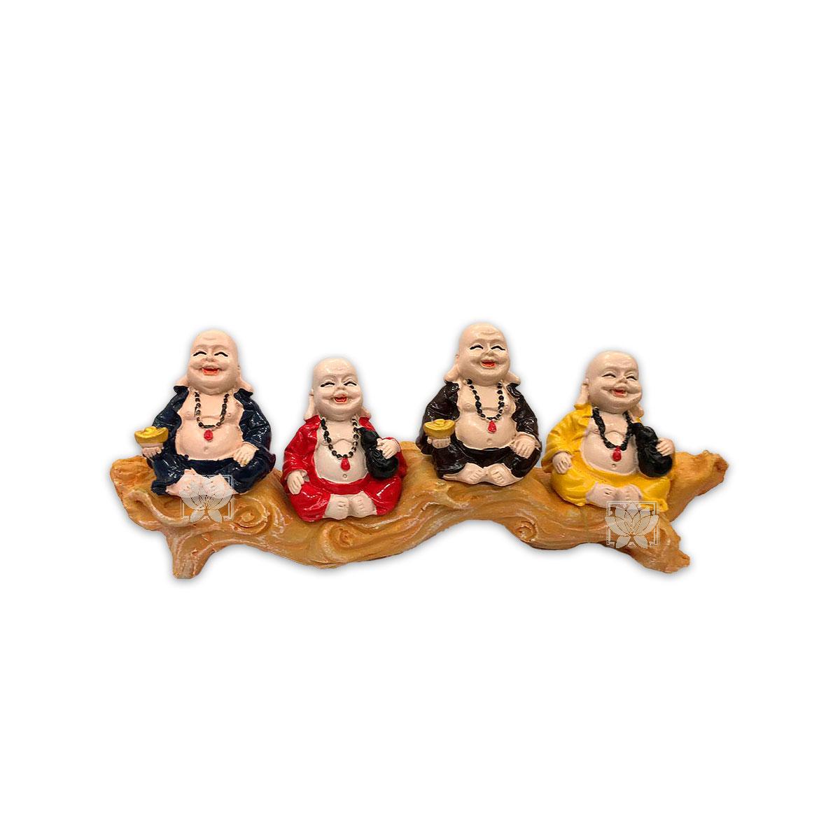 Set Figura Buda  Poliresina Pedestal   3,5