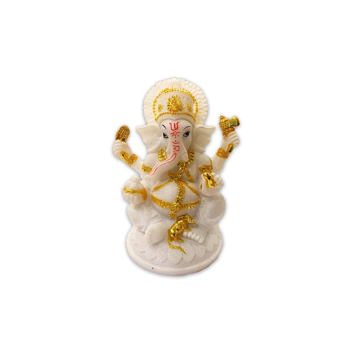 Dios Ganesh Blanca en Poliresina    7