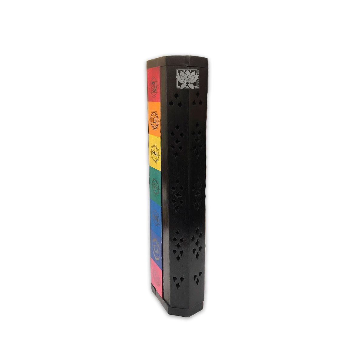 Porta Incienso Baul 7 Chakras Color  Negro #272