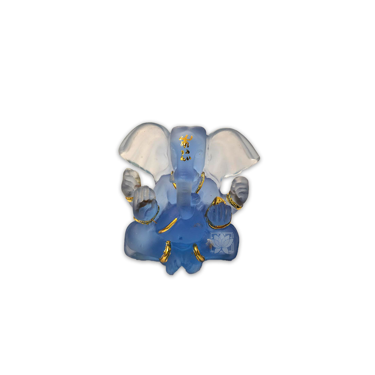 Dios Ganesh  Pequeño Azul Transparente 3