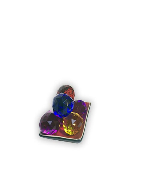 Prisma Transparente y  Color Pequeño 30mm