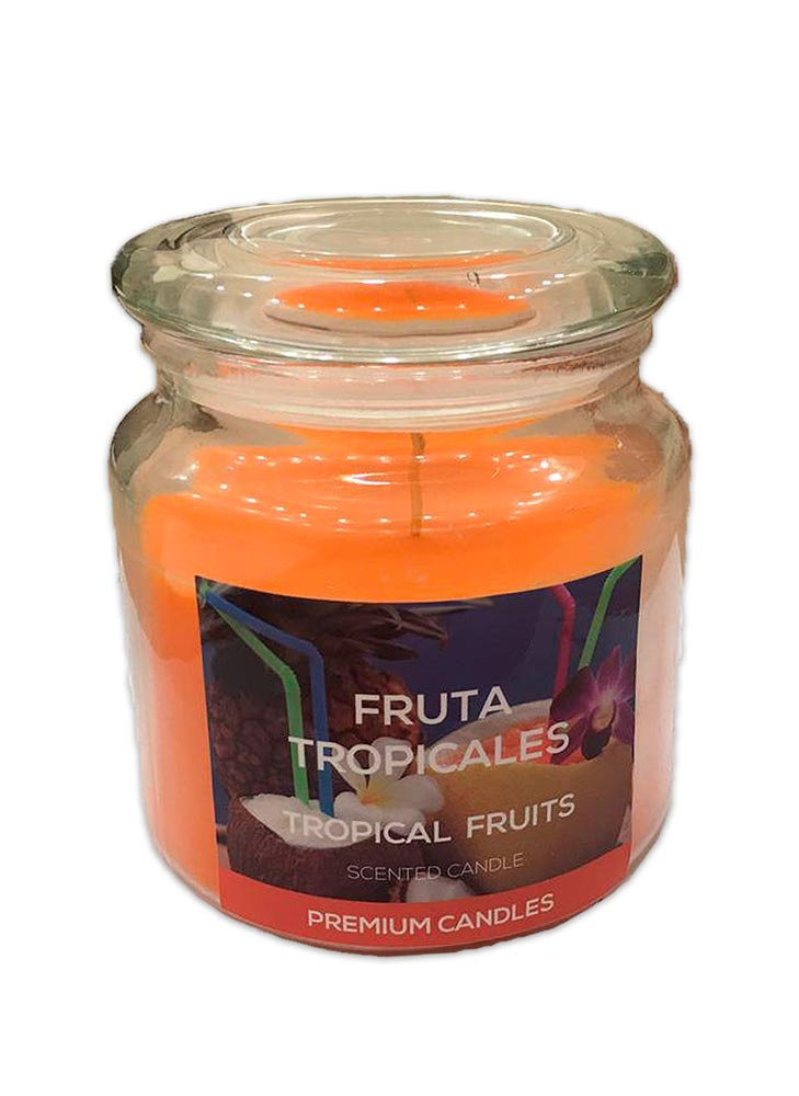 Vela Frasco Grande Fruta Tropical