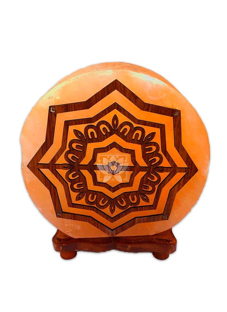 Lampara de Sal Diseño Mandala N° 1 Redondo 9