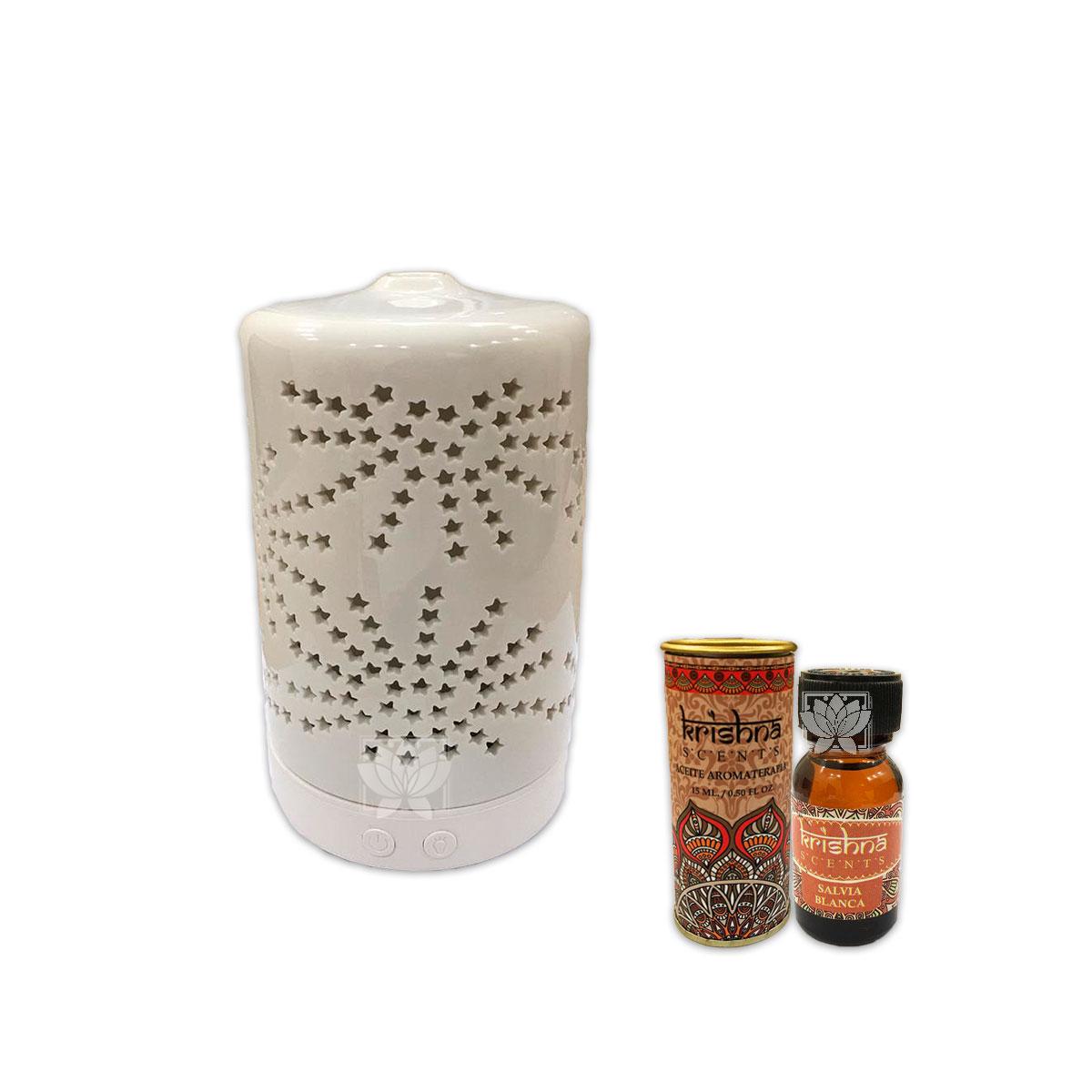 Humidificador Cilindro + Esencia Krishna 15 ml