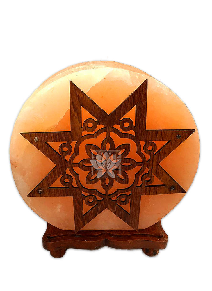 Lampara de Sal Diseño Estrella y Circulos  N°6  9