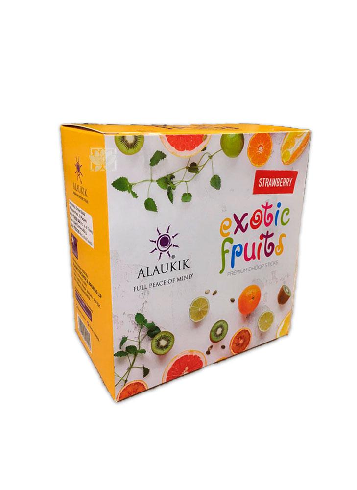 Incienso Alaukik Frutas Exoticas Dhoop 50Gr Frutilla