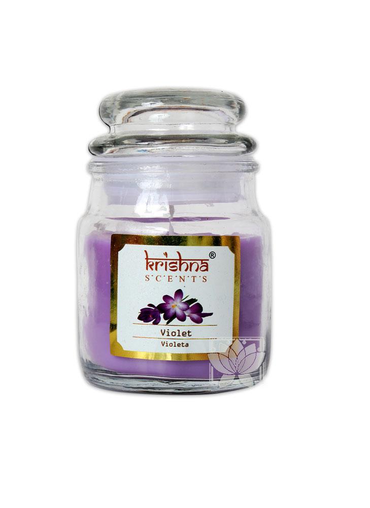 Vela Aromatica Frasco Krishna Violeta 75grs