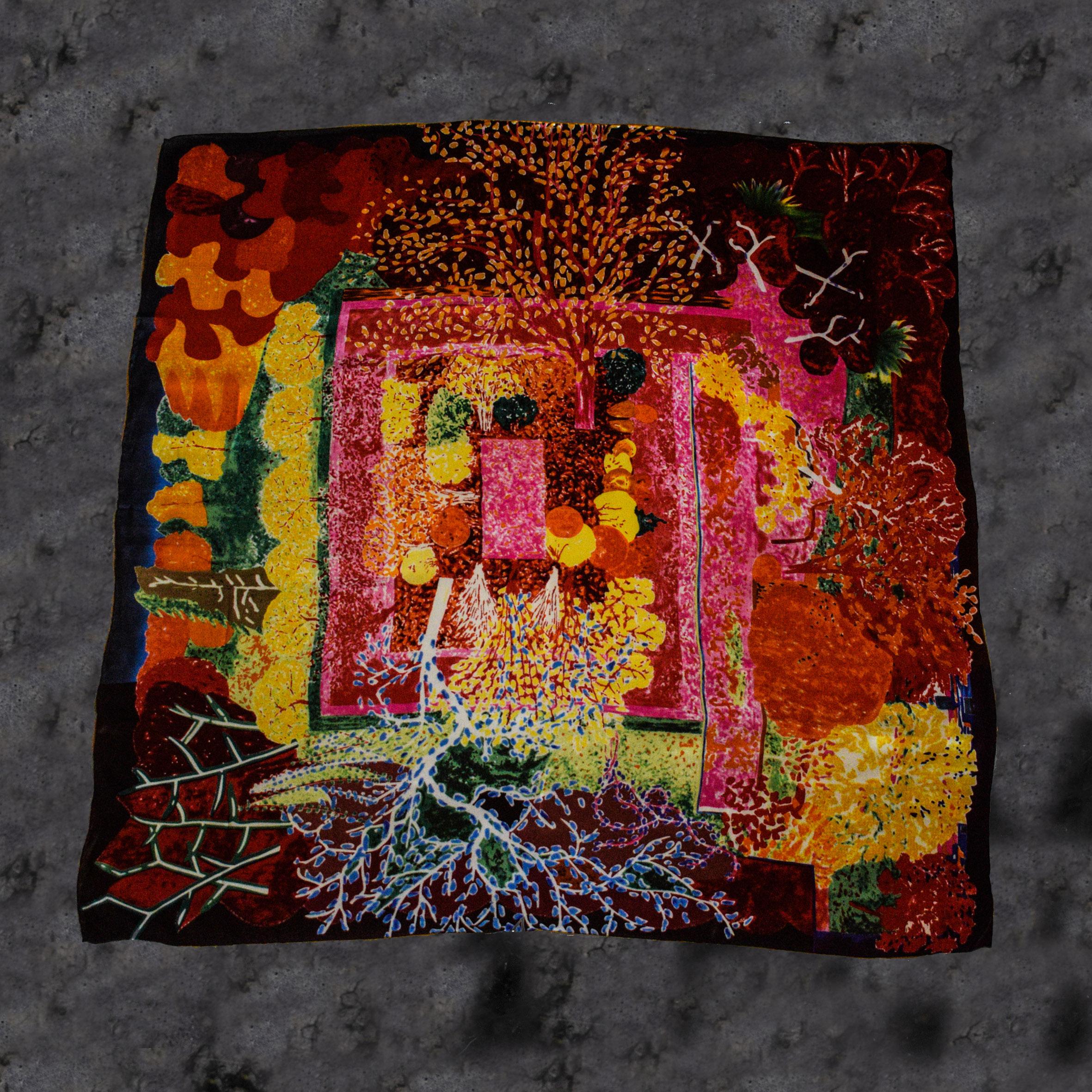 Pañuelo satín de seda natural cuadrado