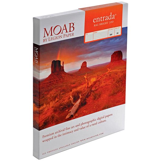 Papel Fine Art Moab Entrada Rag Bright 300 A4 (8.25 x 11.75) 25 Hojas