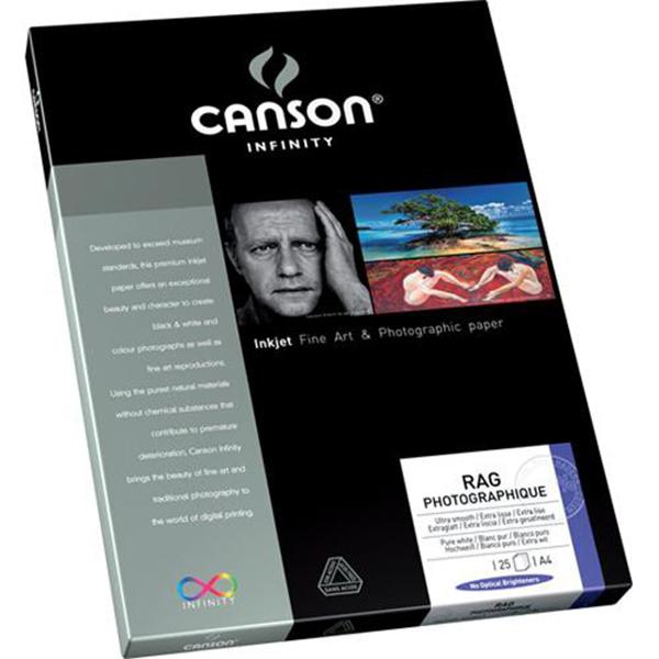 Papel Fotográfico Canson Rag Photographique 210 grs. 25 Hojas Tamaños