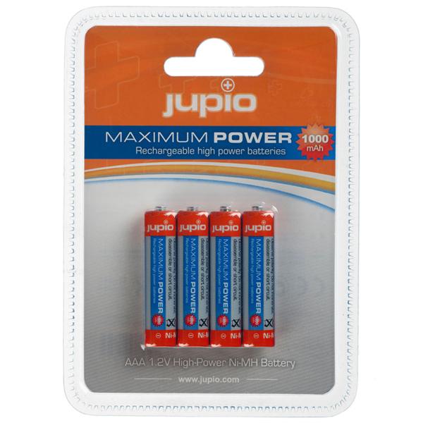 Pilas Recargables Jupio AAA 1000 mAh 4 unidades