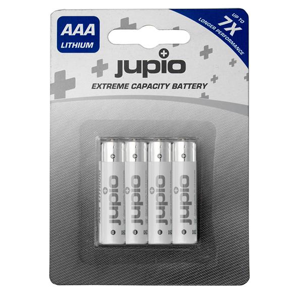 Pilas Lithium Jupio AAA 1250 mAh 4 unidades