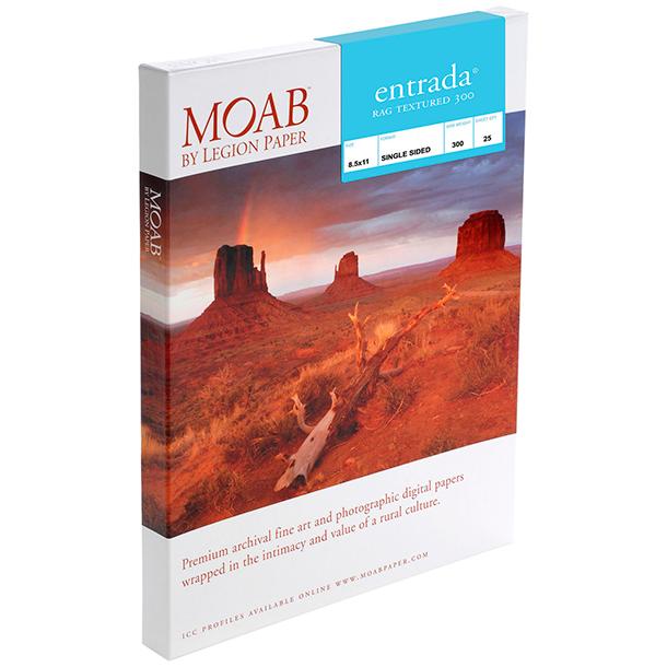 Papel Fine Art Moab Entrada Rag Textured 300 A3+ (13 x 19) 25 Hojas